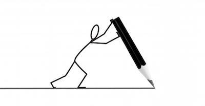 stickfigure+pencil