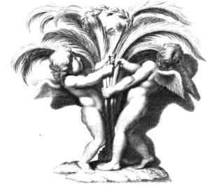 2 cherubs fight over fern crown-traittedelapein00leon_0098