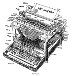 Remington typewriter patent-blog library si edu